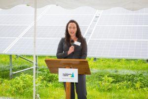 GAAMHA, Inc. CEO Tracy Hutchinson addressing the audience.